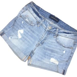 Aeropostale Factory Distressed Denim Jean Shorts 0